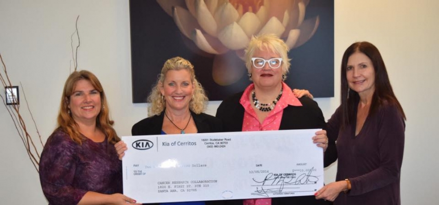 Kia of Cerritos donates $10,000 to the Cancer Research Collaboration
